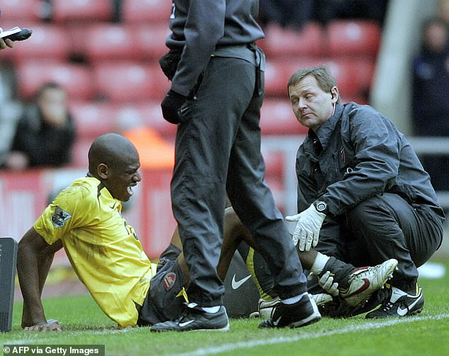 Abou Diaby's problems really started when he was on the end of a horror tackle at Sunderland