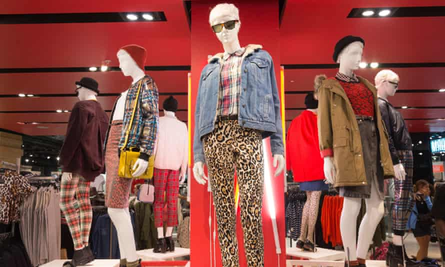 Topshop on Oxford Street, London – a magnet for teenage girls.