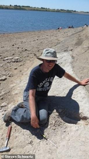 Biologist John Orcutt working in the field