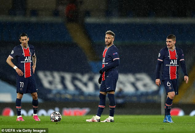 The Parisians exited the tournament after an underwhelming second leg on Tuesday night