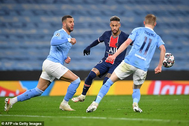 City stifled PSG's attacking threat, limiting Neymar & Co. to zero shots on target in Manchester