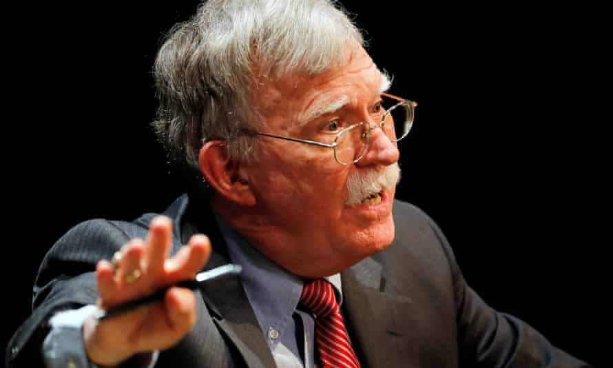 Former US national security adviser John Bolton is the villain of the piece in Lewis's new book, The Premonition.