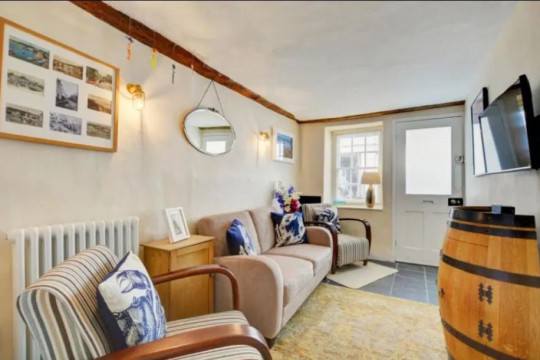 A TWO-BED home narrower than a London bus has gone on the market for ?430,000. The adorable property in Padstow, Cornwall measures just 8ft 2ins at its widest point - meaning it's thinner than a Routemaster, which is 8ft 2.3ins across.