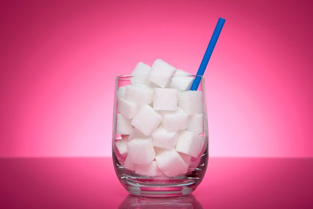 Glass filled with sugar