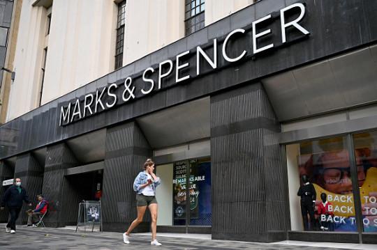 A Marks & Spencer storefront.