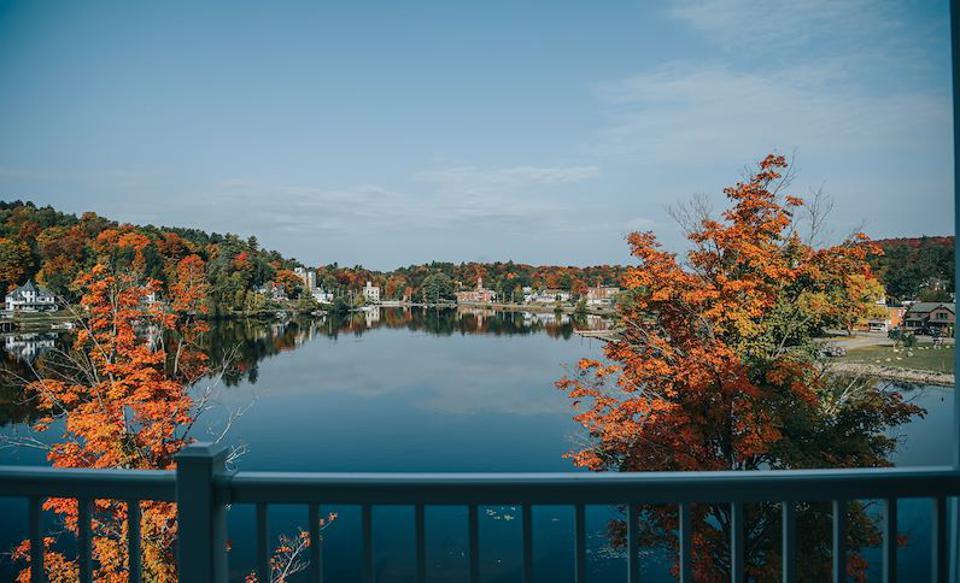 View from a guestroom at Saranac Waterfront Lodge, Saranac, NY