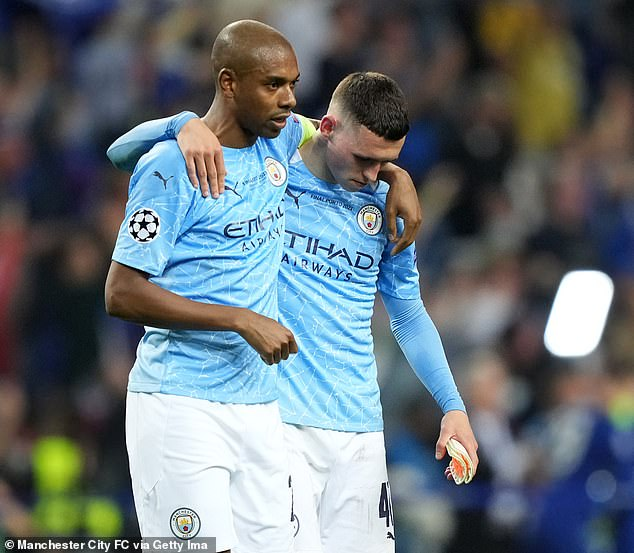Fernandinho (left), Phil Foden (right) and Co were unable to follow up their Premier League and Carabao Cup success this season