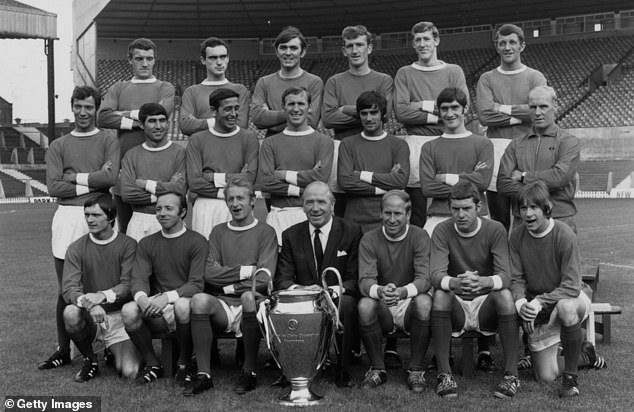 The original photo photoshopped by Evra was from 1968, when United won the European Cup