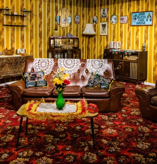 A new 1976 living room, curated by the playwright Michael McMillan.