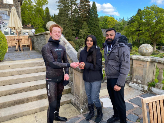 Vik and Rebecca getting the ring back from Angus