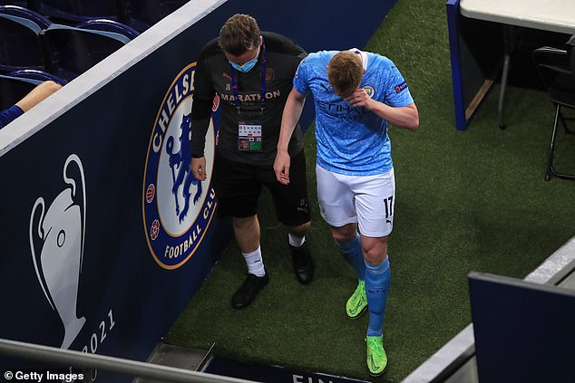 The Belgium international was left in tears as he had to leave the pitch in the 60th minute