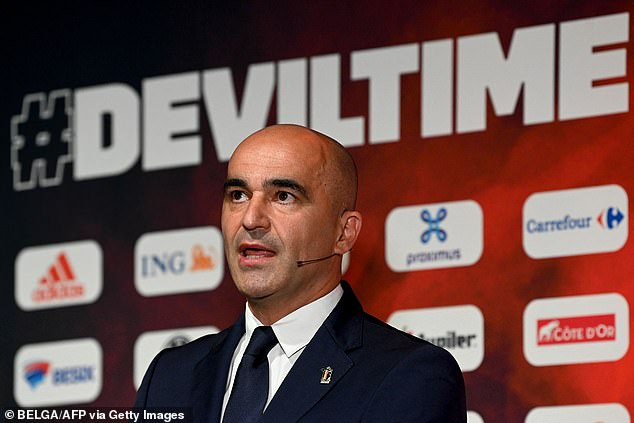 Belgium manager Martinez (above) was concerned about the fitness of star man de Bruyne