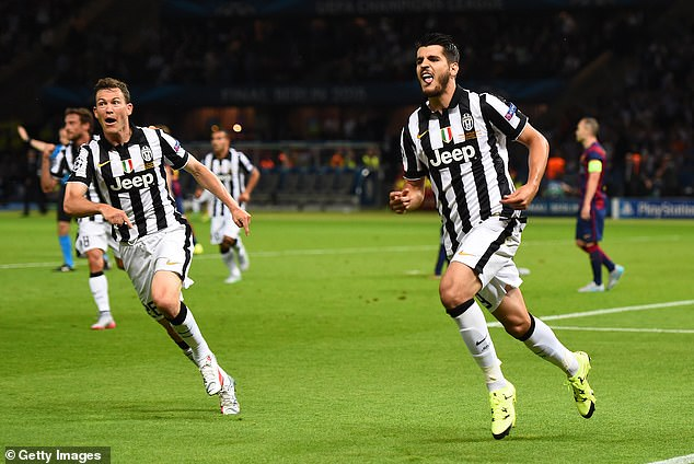 Morata (right) shone for Juventus as they reached the Champions League final back in 2015