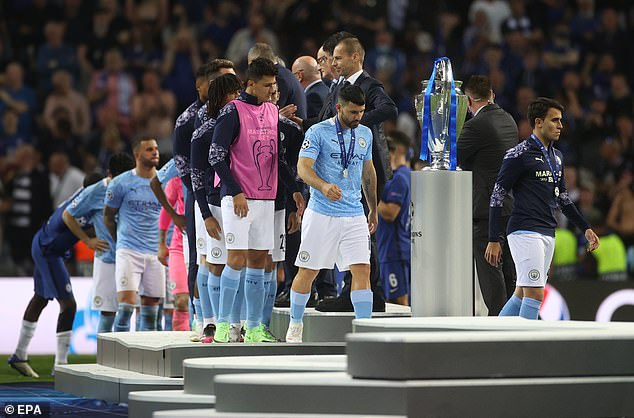 The Argentine forward was distraught after City lost the European final 1-0 to Chelsea