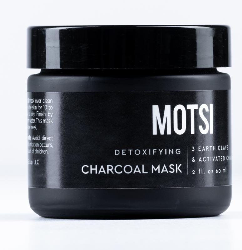 Motsi's Detoxifying Charcoal Mask works as a magnet to clarify deep-set impurity