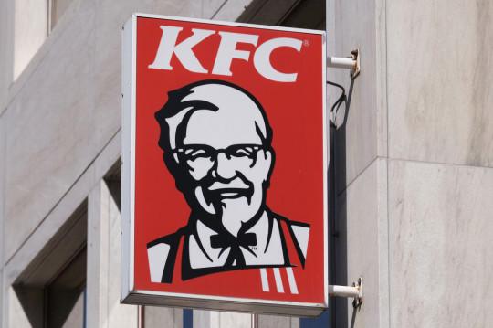 KFC logo on a sign