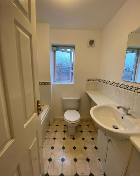 The bathroom before