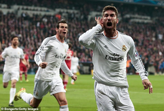Real Madrid's Sergio Ramos scored twice in a 4-0 drubbing of Bayern in a 2014 semi-final tie