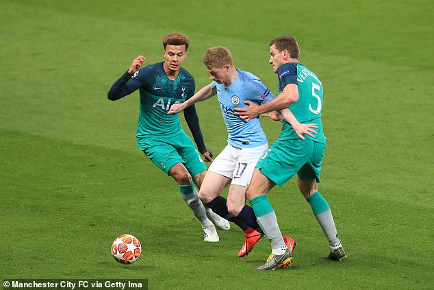But Guardiola made a baffling call in leaving Kevin de Bruyne out of the first leg, a 1-0 defeat