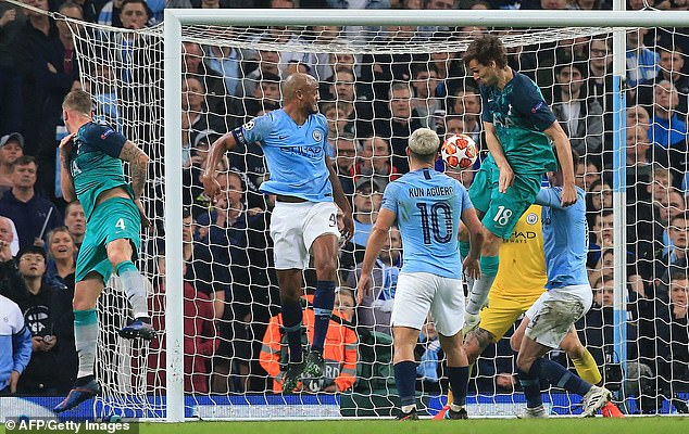 Fernando Llorente scores a goal that proved decisive in Spurs knocking City out in 2019