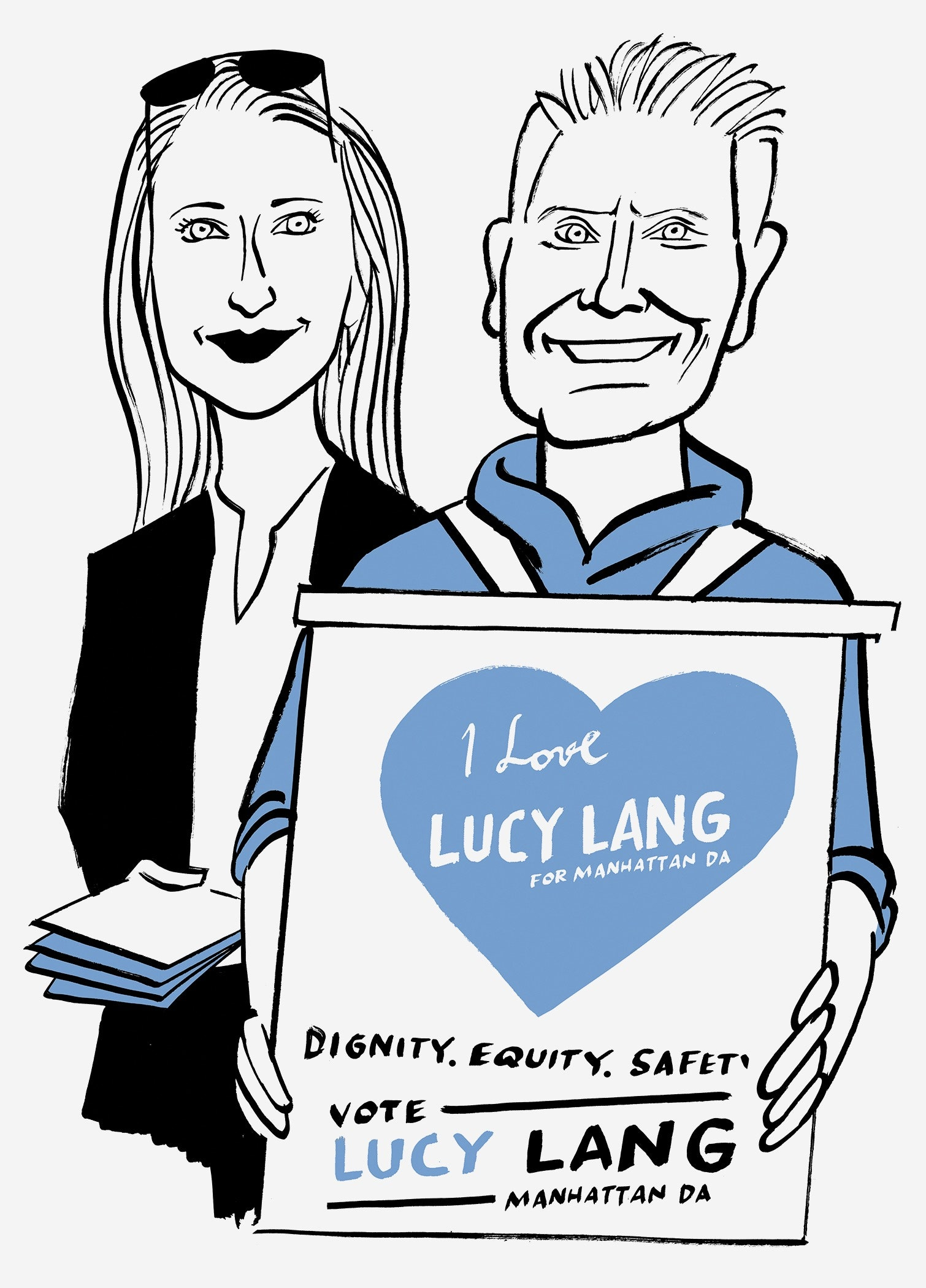 Lucy Lang and Stephen Lang