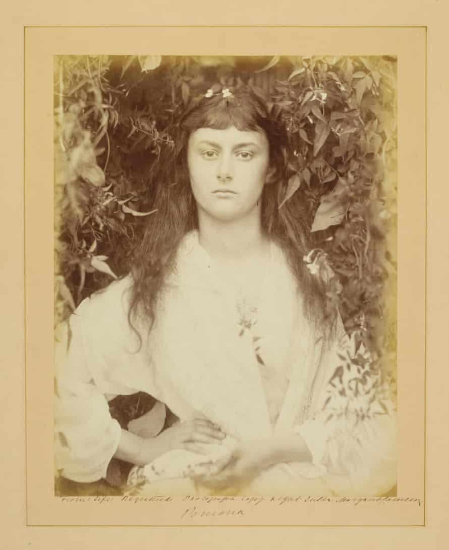 Alice Liddell, posing as Pomona for Julia Margaret Cameron, 1872.