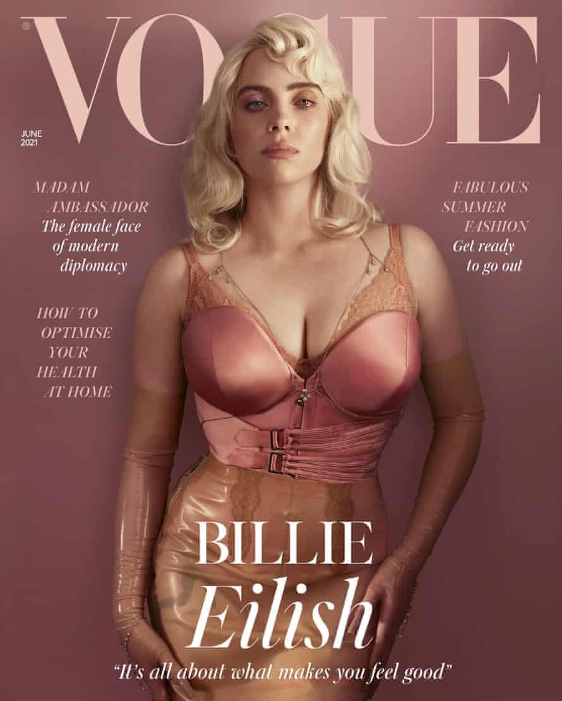 Billy Eilish, Vogue cover