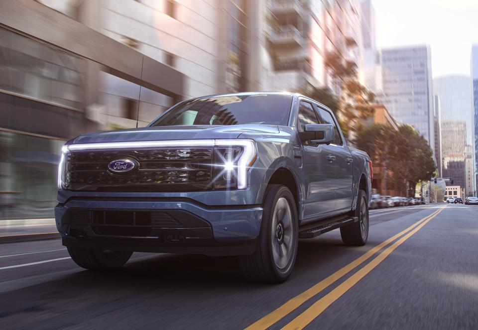 The battery powered 2022 Ford-150 Lightning