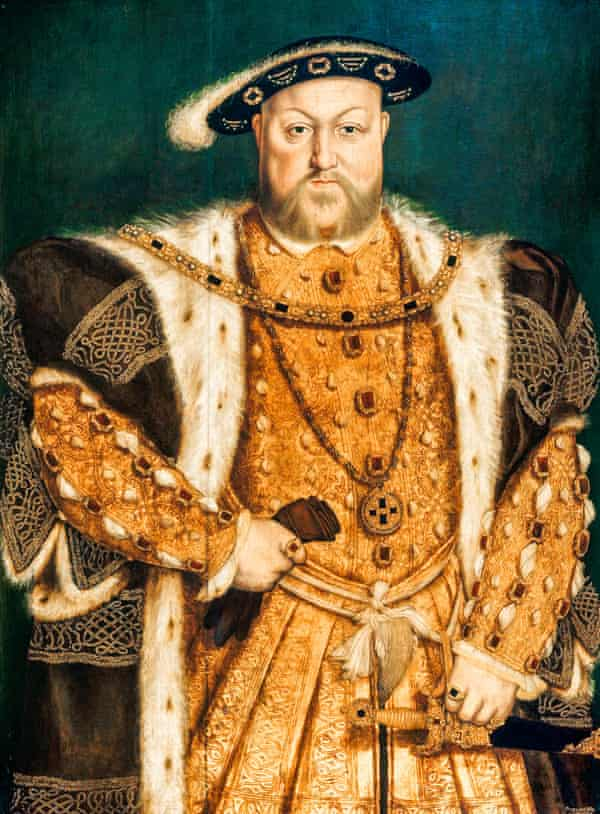 1538 portrait of Henry VIII after Hans Holbein.