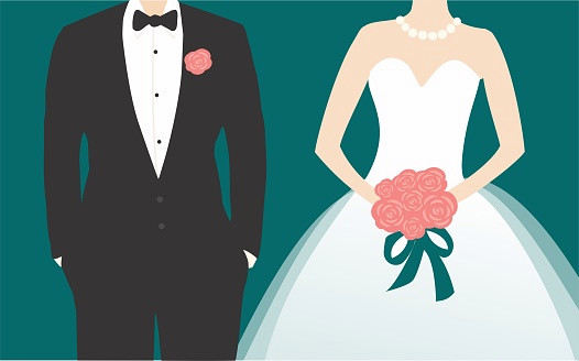 illustration of Wedding Couple