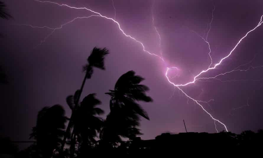 Lightning strikes over Kolkata. Though concerned with analysing natural phenomena down to a molecular level, John Latham never lost a sense of wonder at the imaginative effect they have on us.