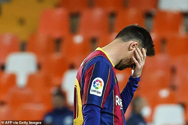 Lionel Messi hosted a team barbecue on Monday but now Barcelona could be in trouble