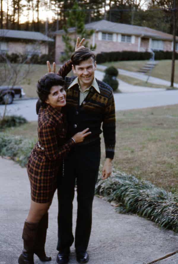 Lionel Shriver's parents, Don and Peggy, at their home in Atlanta, Georgia, 1973.