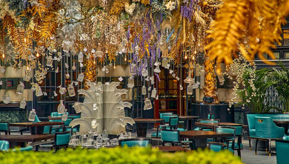 terrace at The Savoy hotel
