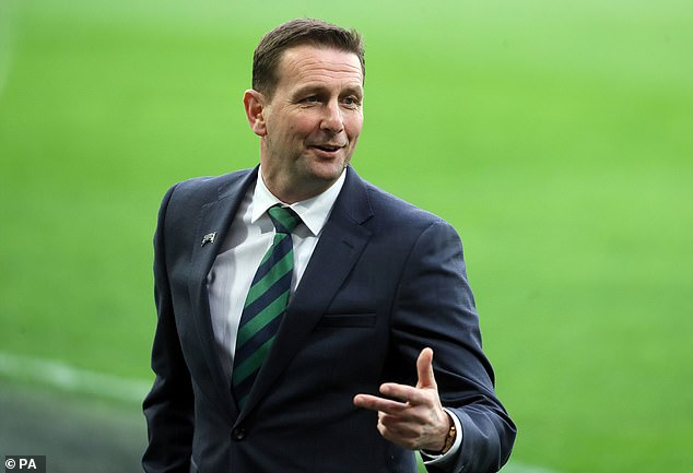 Ian Baraclough (above) recorded his first win as Northern Ireland manager in Austria