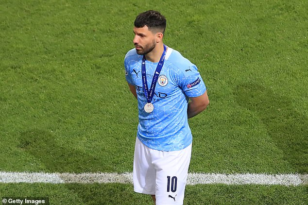 Sergio Aguero travelled straight from Manchester City's Champions League loss to complete a move to Barcelona, according to reports