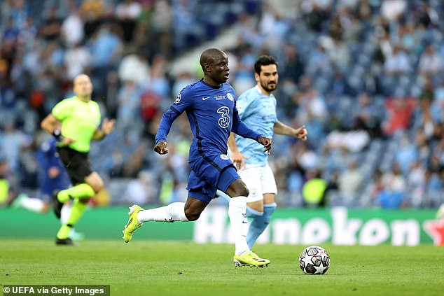 Kante produced an excellent performance as Chelsea beat Manchester City in the final