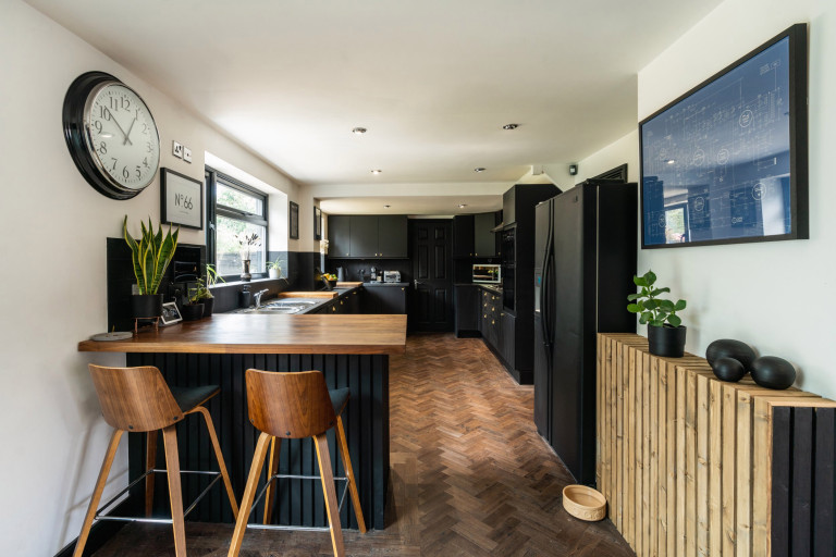 natural wood in kitchen