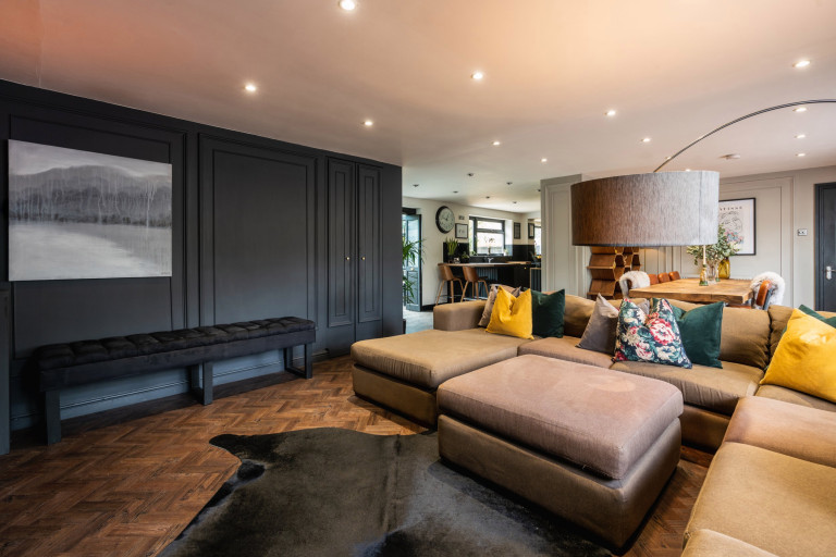 living room in almost black house