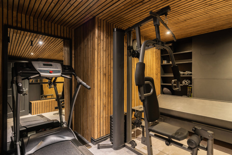 gym space in almost black house