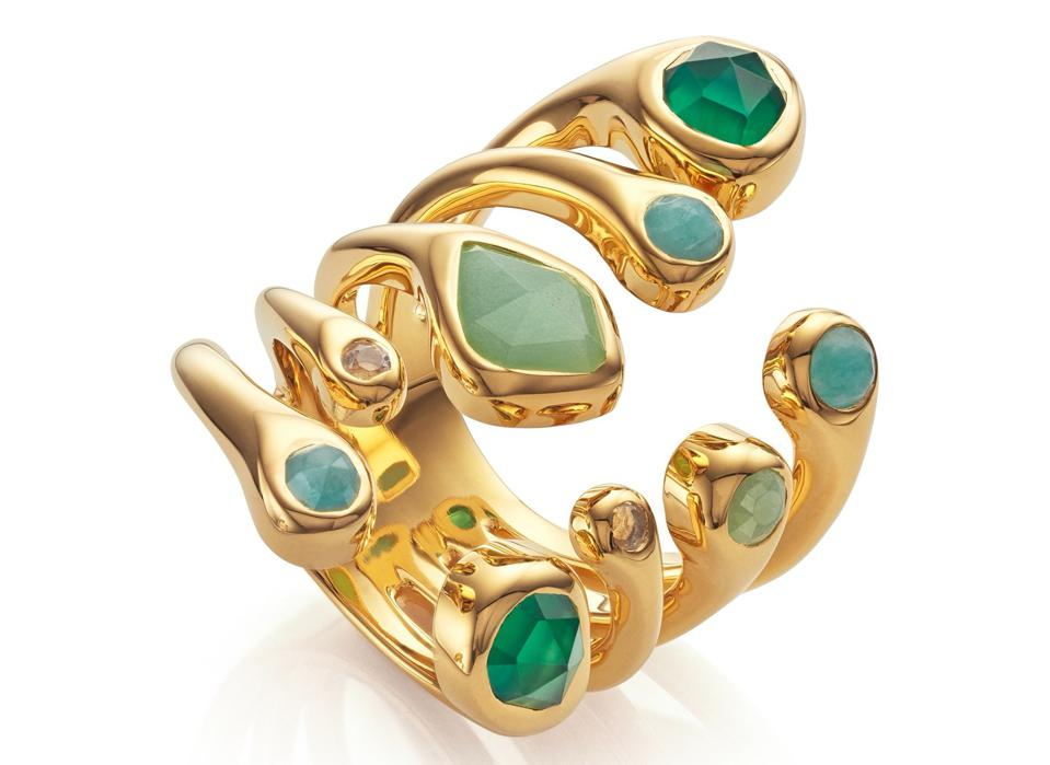 Siren Tonal Cluster Cocktail Ring by Monica Vinader