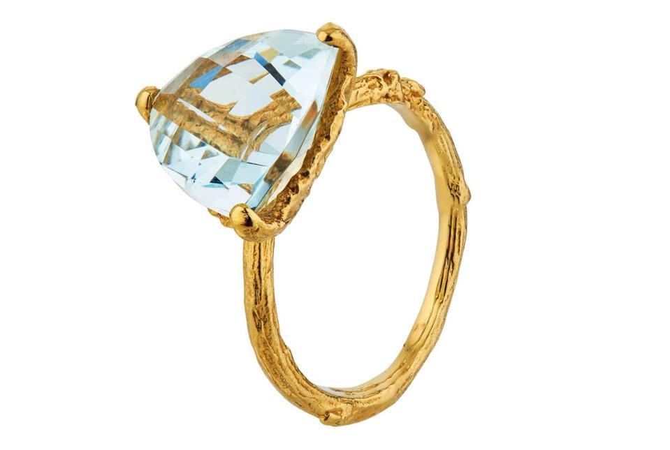 Aquamarine Forest Jewel Ring by Alex Monroe