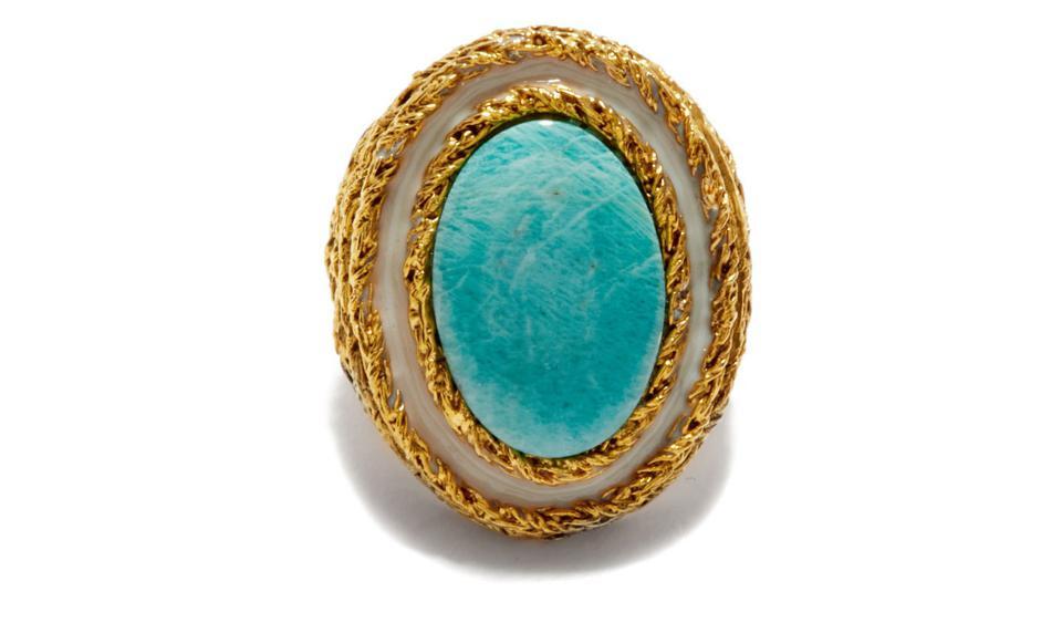 Liz Turquoise Gold-Plated Ring by Aurélie Bidermann: