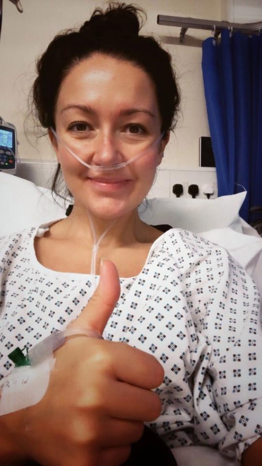 Elizabeth's surgery was a success