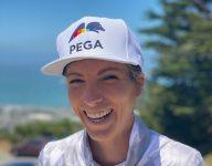 Pega ambassador Mel Reid wears rainbow logo to celebrate Pride Month at U.S. Women's Open