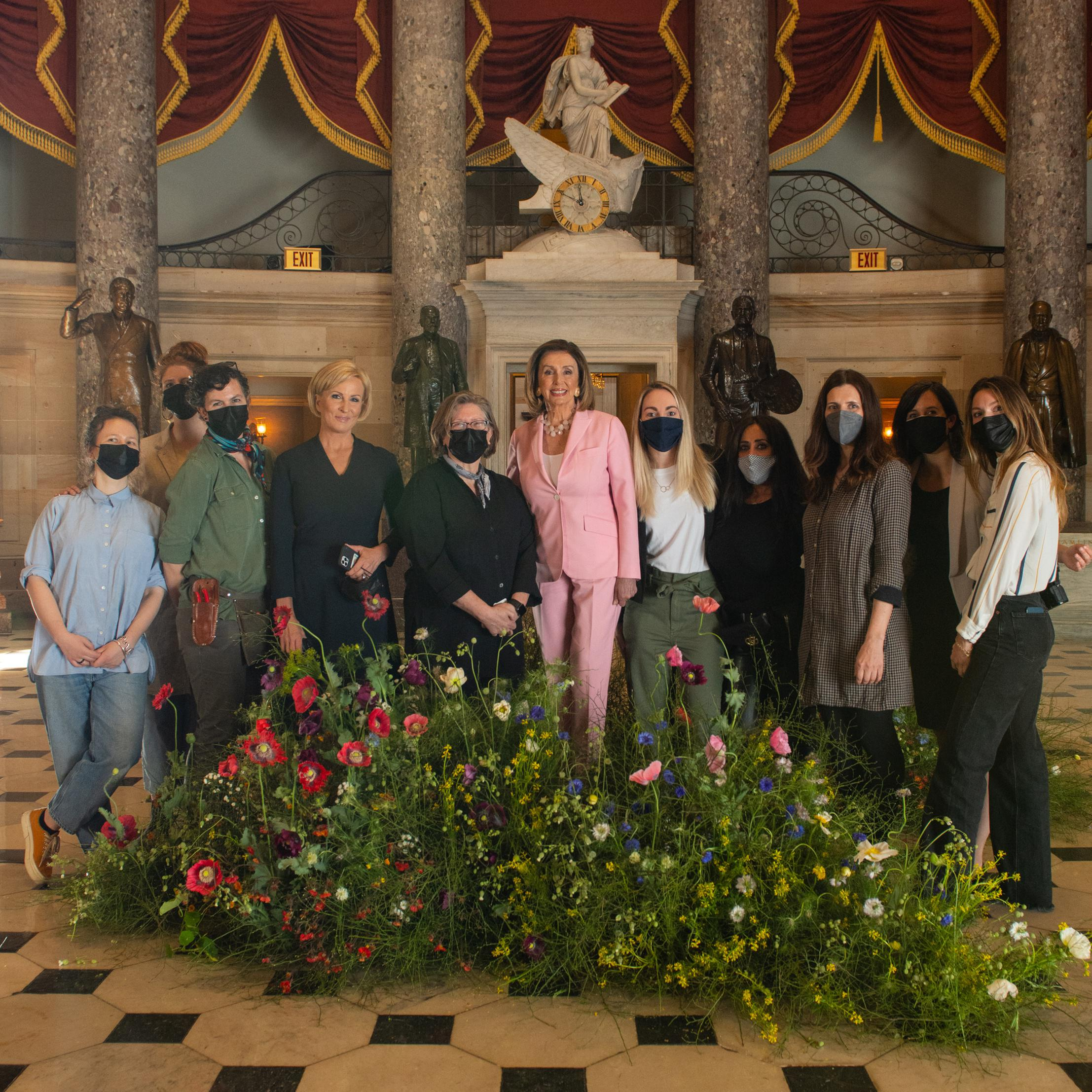 Forbes crew, Statuary Hall, The Capitol