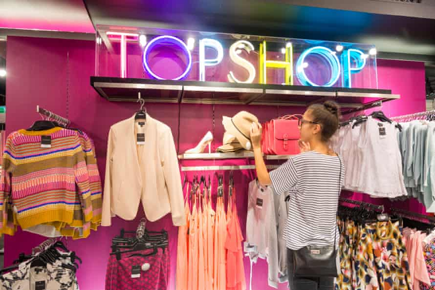 Shopping in Topshop, Oxford Street.