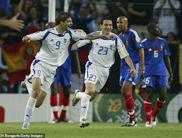 Greece pulled off another huge shock, with Charisteas's header knocking out France