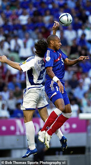 Thierry Henry was marked out of the game by Greece defender Georgios Seitaridis