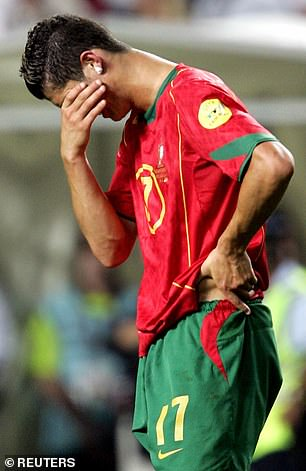 Ronaldo was making his major tournament debut for Portugal